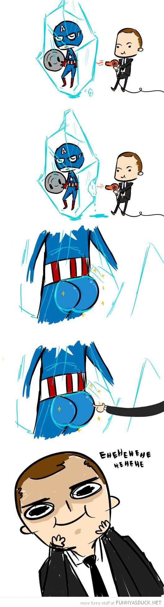captain america comic frozen touch butt bum avengers funny pics pictures pic picture image photo images photos lol