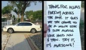 car parked path slide hood movie star note funny pics pictures pic picture image photo images photos lol