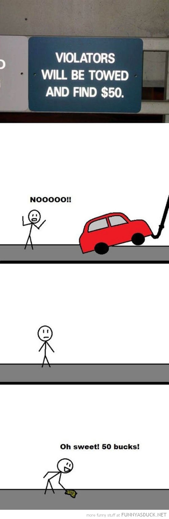 car towed find $50 comic funny pics pictures pic picture image photo images photos lol