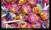 chupa chups open lollipop greatest challenge childhood funny pics pictures pic picture image photo images photos lol