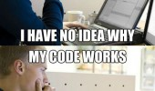 coder computer programmer problems web designer code works no idea why funny pics pictures pic picture image photo images photos lol