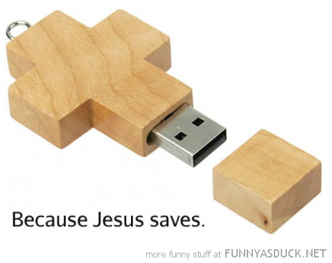 cross crucifix usb memory stick jesus saves funny pics pictures pic picture image photo images photos lol