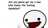 danny the dandelion comic new bike blow me funny pics pictures pic picture image photo images photos lol