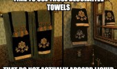 decorative towels don't adsorb liquid  funny pics pictures pic picture image photo images photos lol