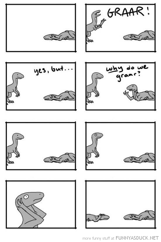 dinosaur comic why do we roar graar funny pics pictures pic picture image photo images photos lol