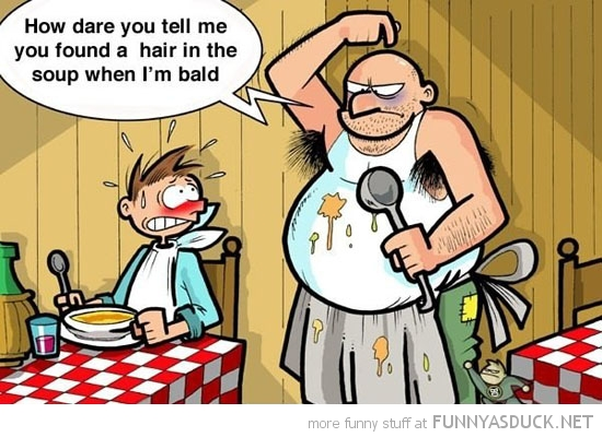 dirty chef comic hair soup bald armpits comic funny pics pictures pic picture image photo images photos lol