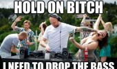 dj push womans face hold on bitch drop the bass funny pics pictures pic picture image photo images photos lol
