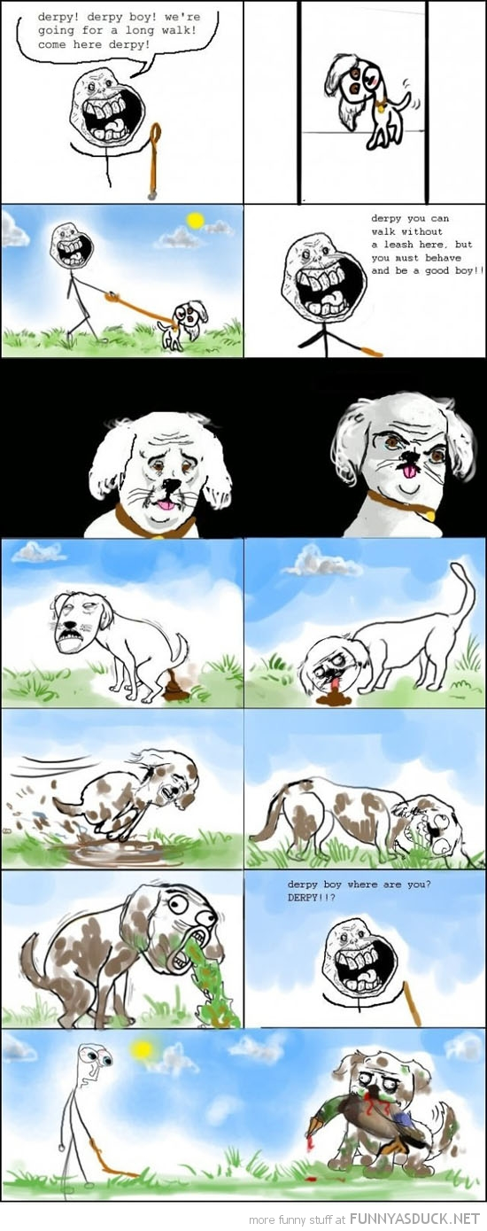 dog walking off leash dirty roll poop rage comic meme funny pics pictures pic picture image photo images photos lol