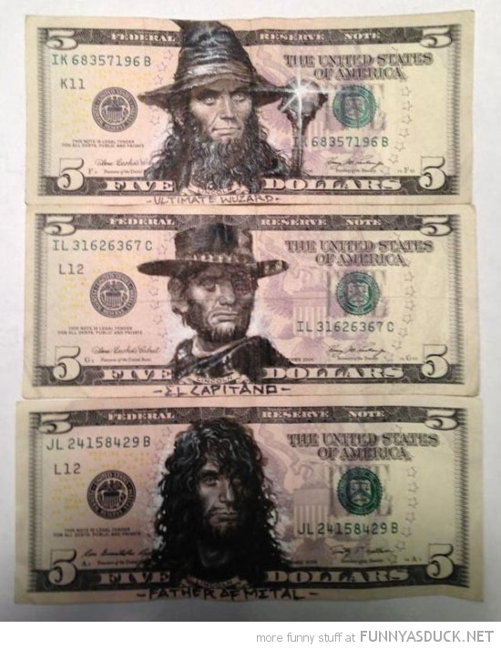 dollar bill ab lincoln drawing face funny pics pictures pic picture image photo images photos lol