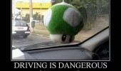 driving dangerous 1up mushroom extra life car funny pics pictures pic picture image photo images photos lol