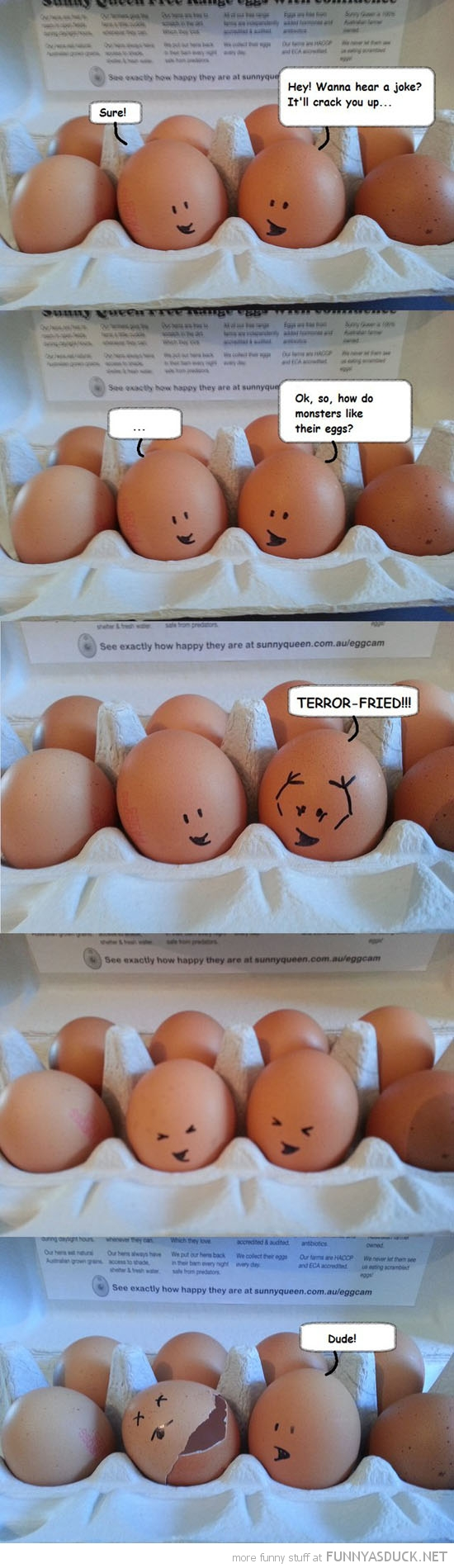 egg joke crack you up monster terror fried funny pics pictures pic picture image photo images photos lol