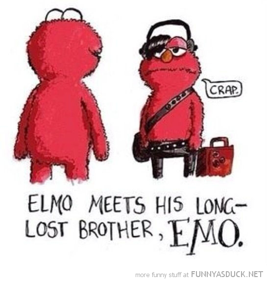 elmo's long lost brother emo comic funny pics pictures pic picture image photo images photos lol