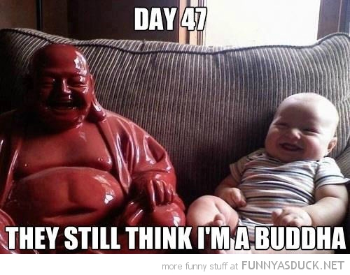 fat baby kid still think i'm buddha funny pics pictures pic picture image photo images photos lol
