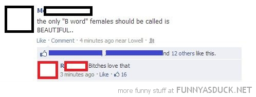 beautiful word b bitches love that facebook status comment funny pics pictures pic picture image photo images photos lol