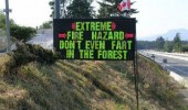 fire hazard don't even fart in forest road side sign funny pics pictures pic picture image photo images photos lol