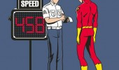 flash caught speeding comic traffic cop superhero funny pics pictures pic picture image photo images photos lol