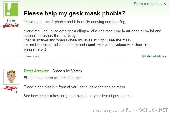 Gas Mask Phobia
