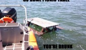 go home picnic table drunk floating sea water funny pics pictures pic picture image photo images photos lol