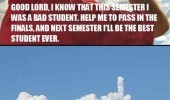 god help me pass this semester pray cloud middle finger funny pics pictures pic picture image photo images photos lol