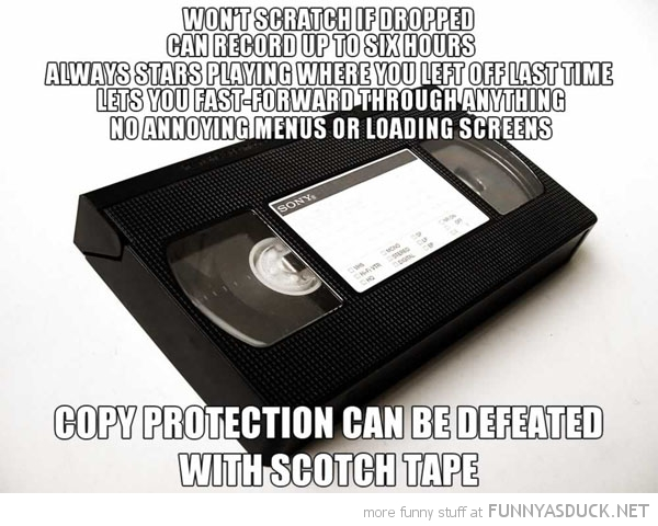 vhs video good guy won't scratch copy protection scoth tape funny pics pictures pic picture image photo images photos lol