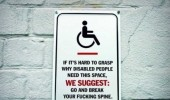 grasp why disabled people need this space go break spine sign funny pics pictures pic picture image photo images photos lol