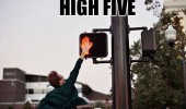 man high five don't walk sign funny pics pictures pic picture image photo images photos lol