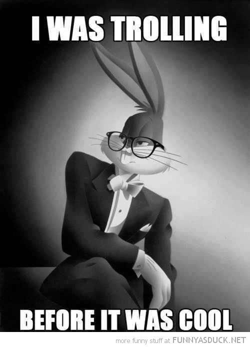 hipster bugs bunny trolling before cool funny pics pictures pic picture image photo images photos lol
