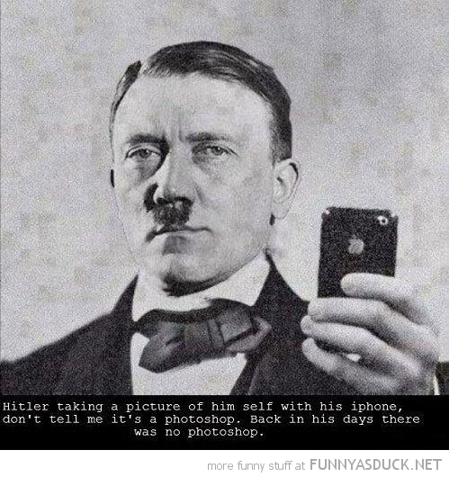 hitler photo iphone not photoshopped funny pics pictures pic picture image photo images photos lol