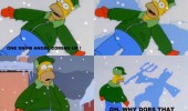 homer simpson snow angel devil tv funny pics pictures pic picture image photo images photos lol