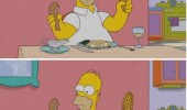 homer simpson swat fly head food plate funny pics pictures pic picture image photo images photos lol