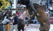 horse bucking man off animal look a penny funny pics pictures pic picture image photo images photos lol
