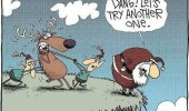 how santa really finds reindeer fly throw cliff xmas christmas comic funny pics pictures pic picture image photo images photos lol