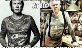 how tattoos look 80 years awesome as fuck old man funny pics pictures pic picture image photo images photos lol
