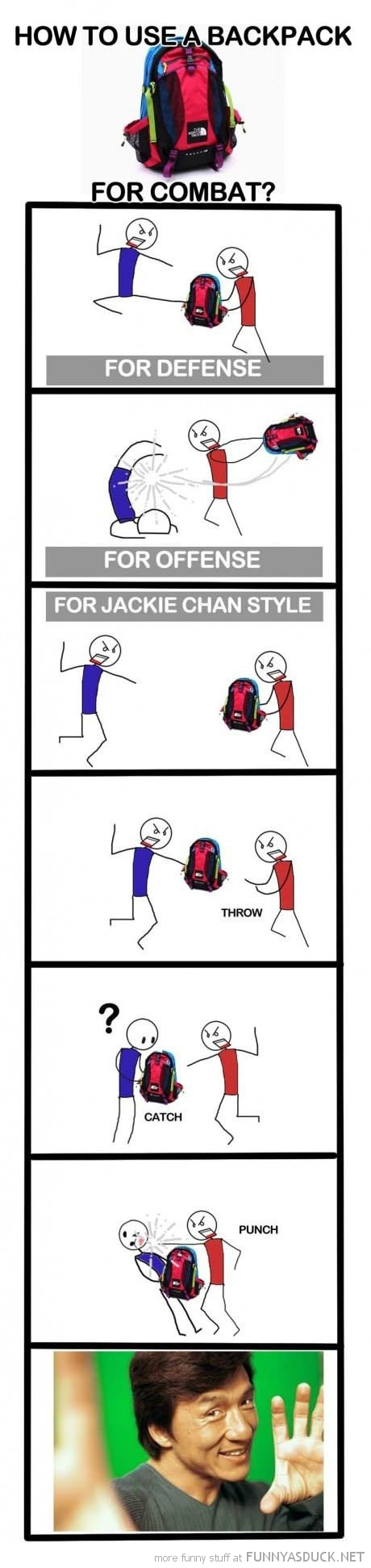 how to use backpack for combat funny pics pictures pic picture image photo images photos lol