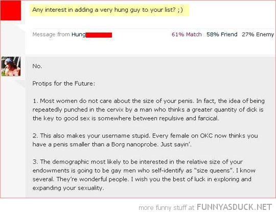 hung guy on list ok cupid comments tips future funny pics pictures pic picture image photo images photos lol