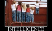 intelligence beats size kids climbing fence funny pics pictures pic picture image photo images photos lol