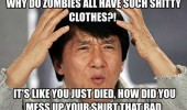 jackie chan meme zombies shitty clothes funny pics pictures pic picture image photo images photos lol