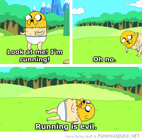 jake adventure time tv cartoon network running is evil funny pics pictures pic picture image photo images photos lol