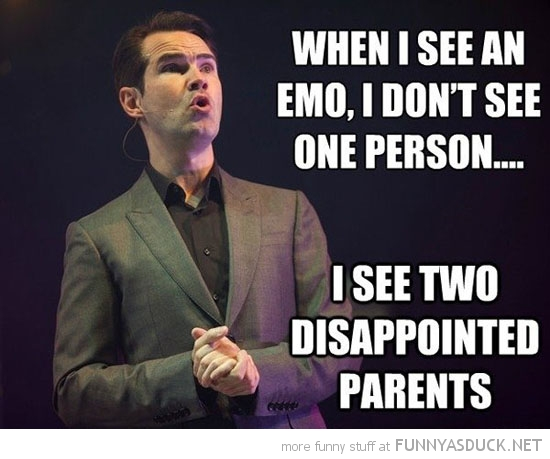 jimmy carr see emo disappointed joke funny pics pictures pic picture image photo images photos lol