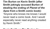 kevin smith tim burton don't read comic books batman funny pics pictures pic picture image photo images photos lol