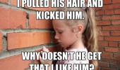 kid girl kicked him pulled hair like him funny pics pictures pic picture image photo images photos lol
