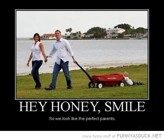 kid dragged trailer smile honey good parents funny pics pictures pic picture image photo images photos lol