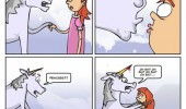 kiss me unicorn comic princess stab head funny pics pictures pic picture image photo images photos lol