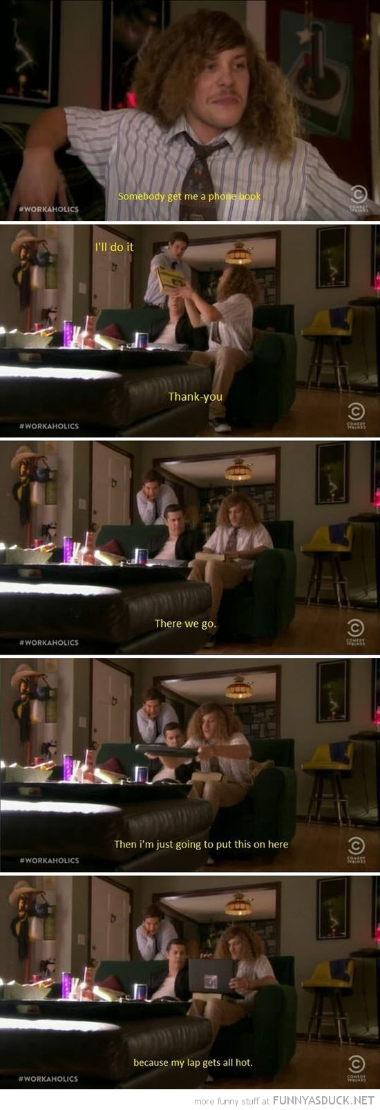 laptop hot yellow pages workoholics tv scene funny pics pictures pic picture image photo images photos lol