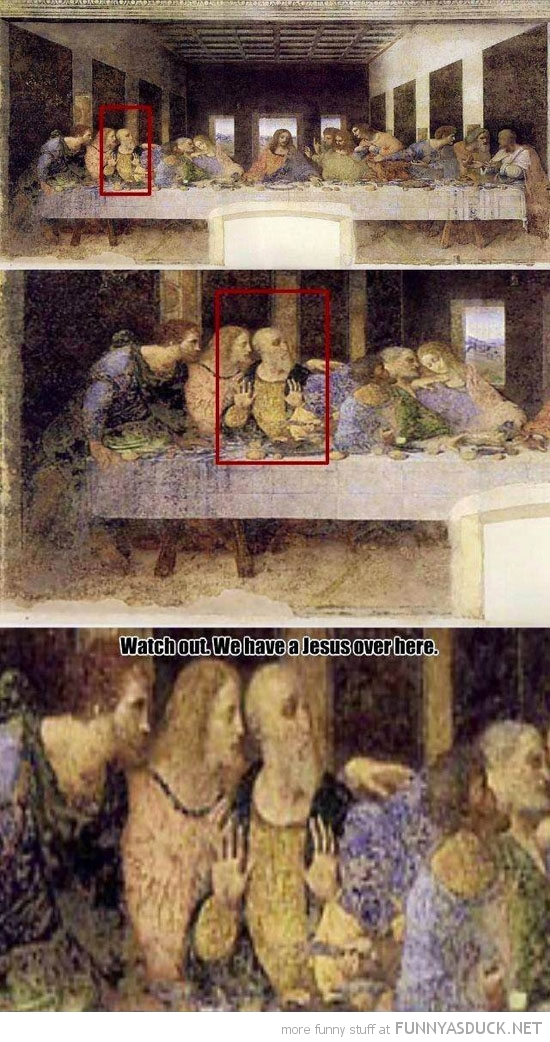 last supper watch out jesus over here funny pics pictures pic picture image photo images photos lol