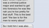 law is for men to worry about sms text iphone funny pics pictures pic picture image photo images photos lol