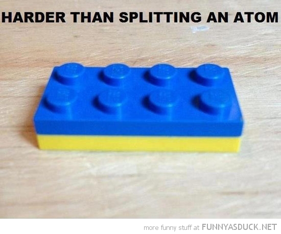 lego bricks stuck harder splitting atom funny pics pictures pic picture image photo images photos lol