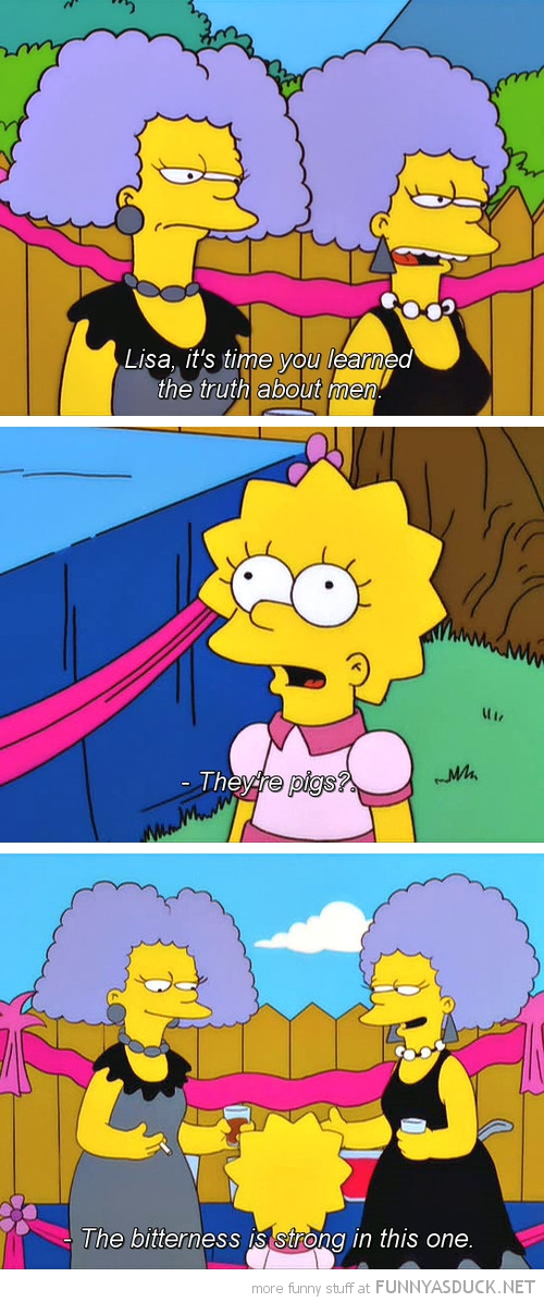 lisa simpson tv scene all me are pigs bitterness funny pics pictures pic picture image photo images photos lol