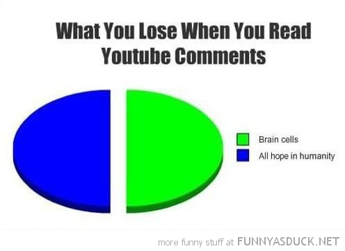 lose reading you tube comments pie chart funny pics pictures pic picture image photo images photos lol