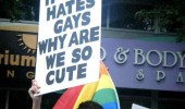 man sign if god hates gays why so cute funny pics pictures pic picture image photo images photos lol